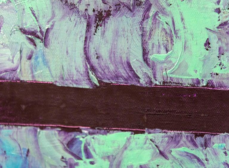 Entry 1 - Green Violet Orange - bands of textured color For Sale 2