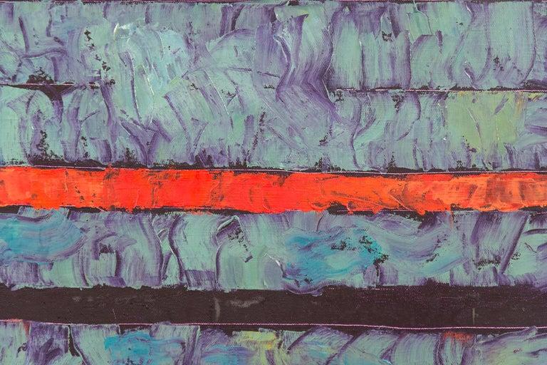 Entry 1 - Green Violet Orange - bands of textured color For Sale 3