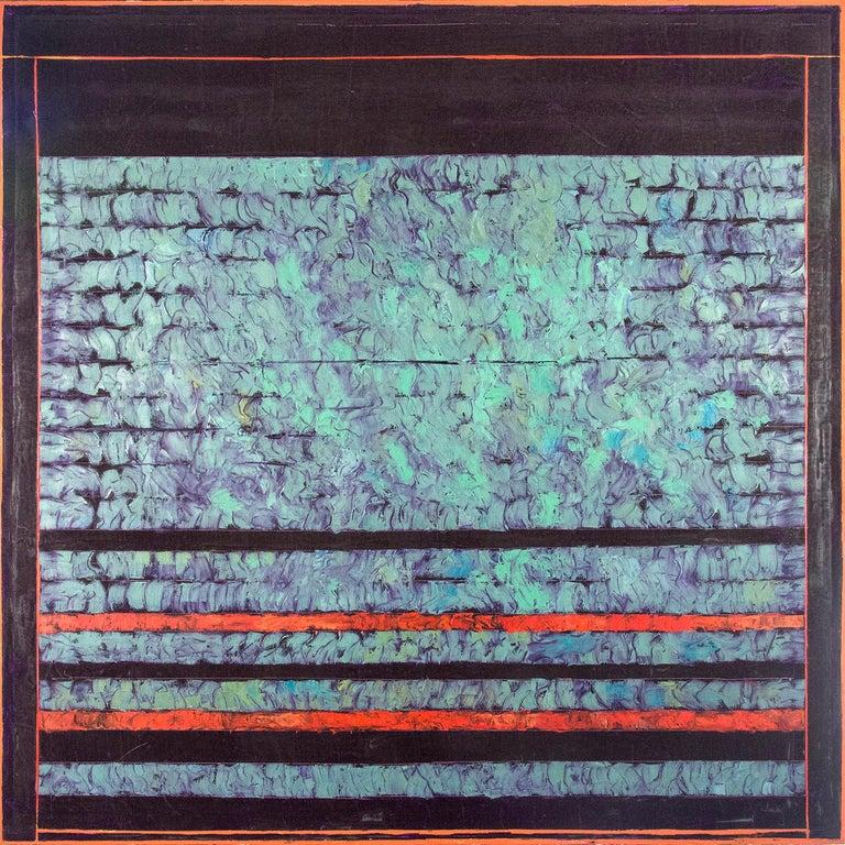 Entry 1 - Green Violet Orange - bands of textured color - Art by David Sorensen