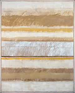 Gestural Field - abstract landscape in sand and gold