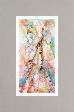 Abstract Figurative Textured Monoprint