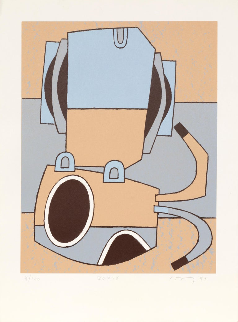 Artist: David Storey Title:Bonix Year:1999 Medium:Serigraph, Signed and Numbered in Pencil Edition: 100 Size: 23 x 17 inches (58.42 x 43.18 cm)