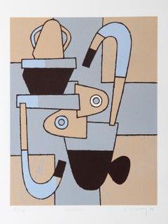 """Coronicon"", 1999, Serigraph by David Storey"