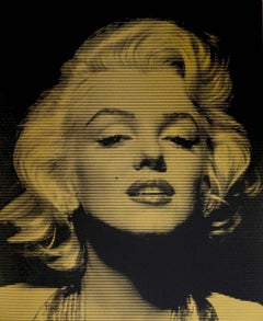 Gold Marylin Monroe, limited edition gold Screen print, David Studwell, Celebrit