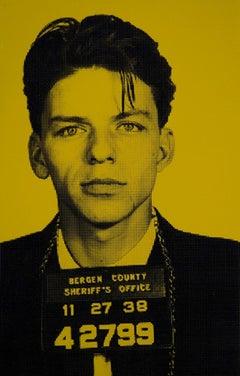 Frank Sinatra IV, Screenprint Art, Celebrity Art, Yellow Art, David Studwell