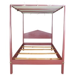 David T Smith Early American Colonial Queen Size Pencil Post 4 Poster Canopy Bed
