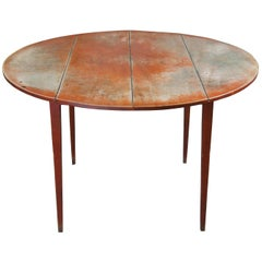 David T Smith Primitive Early American Round Pine Shaker Farmhouse Dining Table