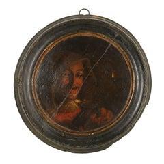 Face by David Teniers Follower of The Drinker Oil on Board 17th Century