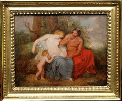 Venus and Satyr with Cupid - Old Master Flemish oil painting mythology woman