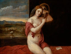 Woman Bathing by David Teniers the Younger (Flemish) after Giovanni Bellini