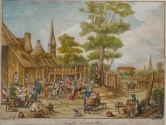 Country Fest - Etching by David Teniers - 17th Century