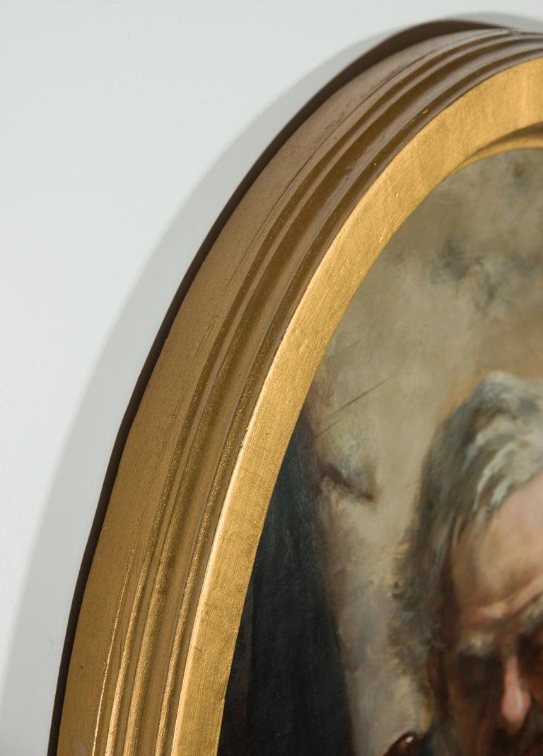 David W. Haddon (fl. 1884-1911) - English Oil, Portrait of a Cornish Fisherman - Black Portrait Painting by David W. Haddon