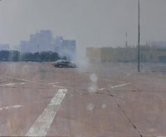 Deserted - oil painting on board