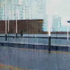 Passing Through (Vauxhall) -contemporary cityscape painting oil on canvas