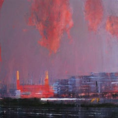 The Power Station -contemporary cityscape architecture painting oil on canvas