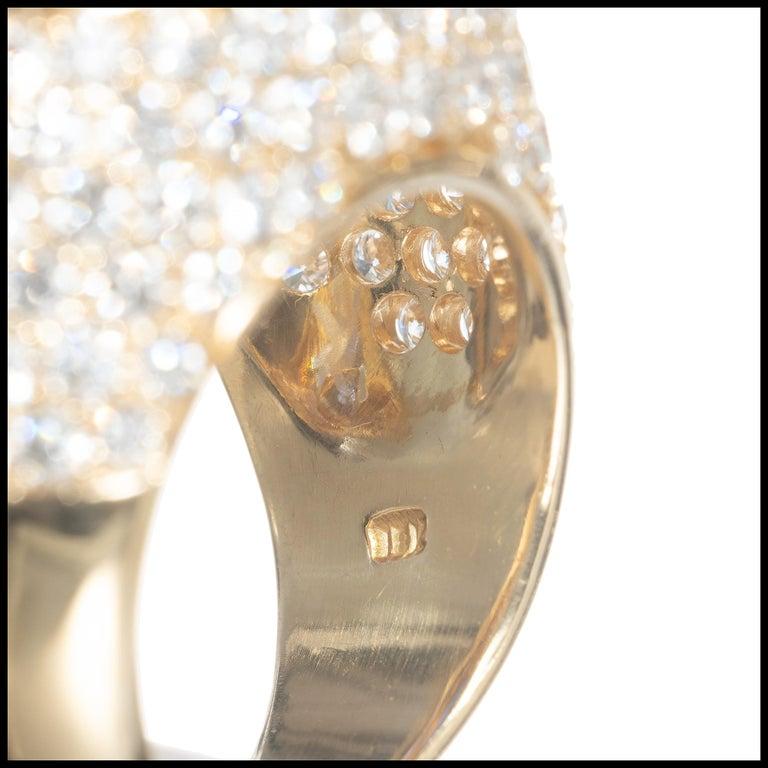 Women's David Webb 14.4 Carat Star Sapphire Diamond Dome Cocktail Yellow Gold Ring For Sale