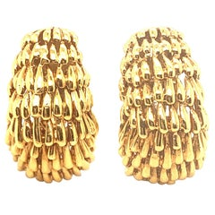 David Webb 18 Karat Gold Earring Clips