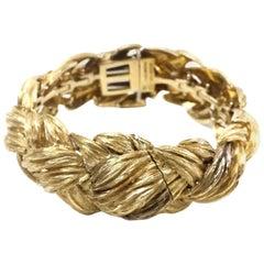 David Webb 18-Karat Gold Weave Watch Bracelet