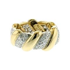 David Webb 18K Gold Diamond Band