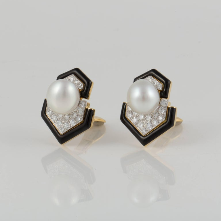 These classic earrings are marked