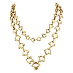 David Webb 18 Karat Yellow Gold Chain Link Necklace