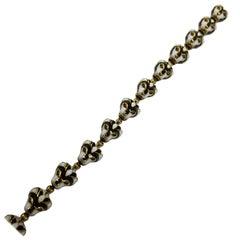 David Webb 18 Karat Yellow Gold Enamel Lion Head Bracelet