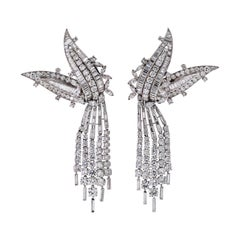 David Webb 50 Carats Spectacular Statement Diamond Earrings