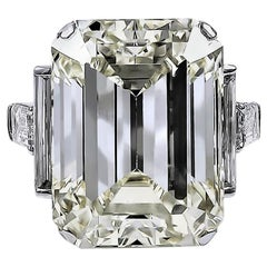 David Webb 52.55 Carat Emerald-Cut Diamond Gold Platinum Engagement Ring