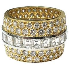 David Webb 8.44 Carats Of Diamonds  Platinum 18 Karat Band Ring