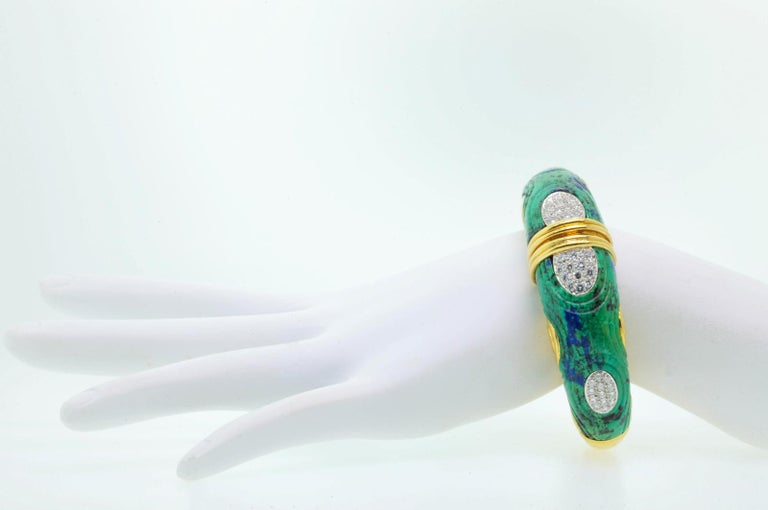 David Webb Azurmalachite and David Bangle In Good Condition For Sale In Beverly Hills, CA