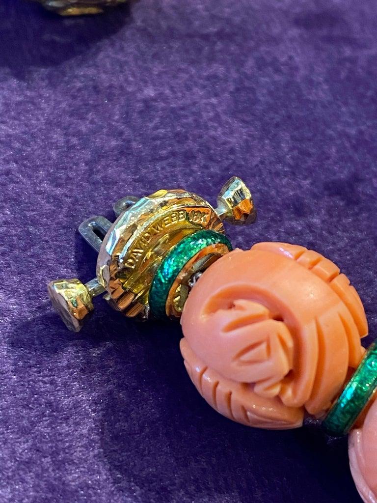 David Webb Carved Coral Necklace For Sale 7