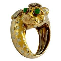 David Webb Crossover Leopard Ring