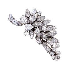David Webb Diamond and Platinum Cluster Brooch