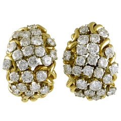 David Webb Diamond Bombe Earrings