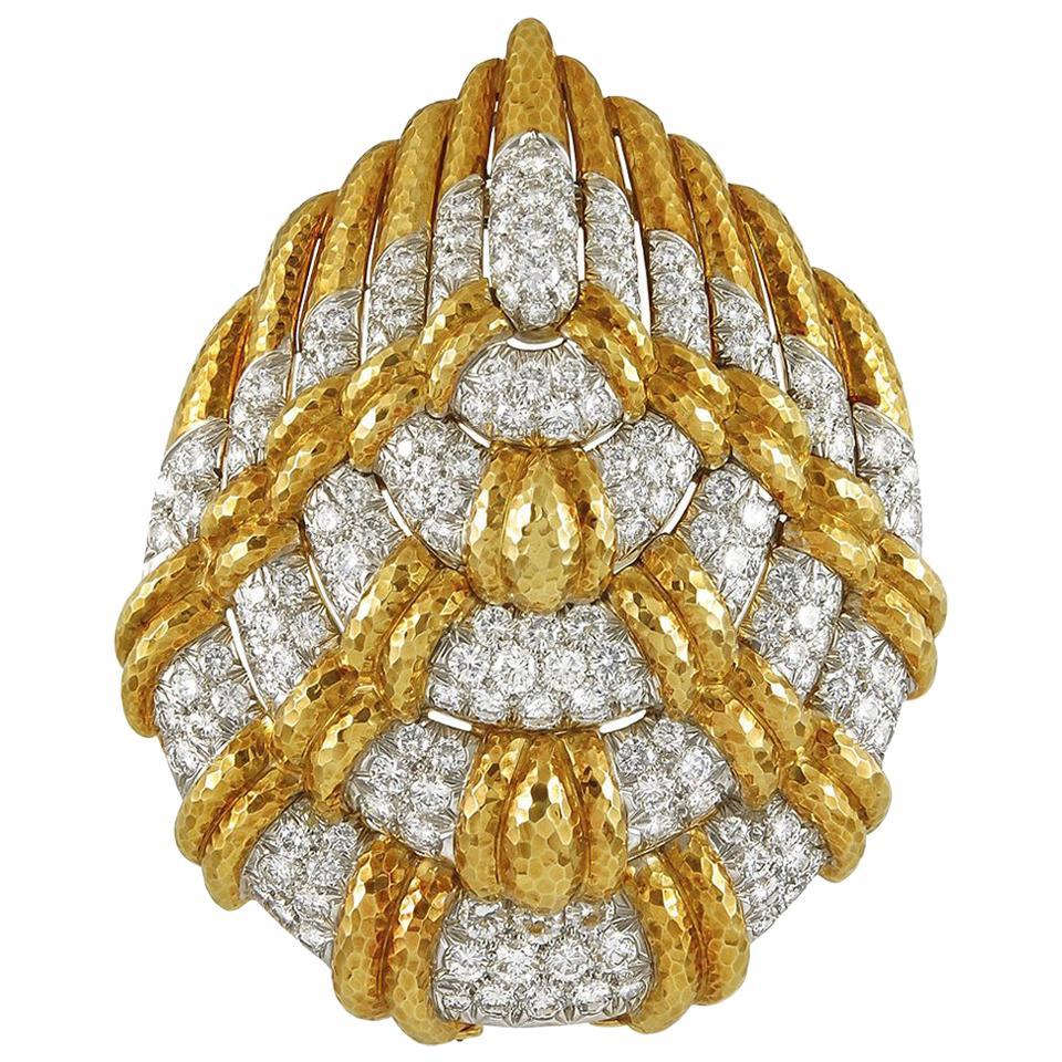David Webb Diamond Convertible Pendant Brooch