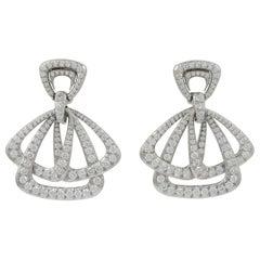 David Webb Diamond Cosmos Earrings