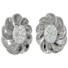 David Webb Diamond Crystal Earrings