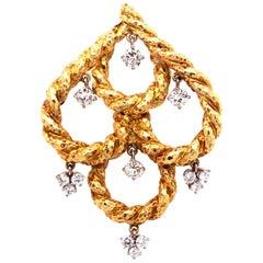David Webb Diamond Dangle Pendant
