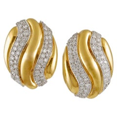 David Webb Diamond Earrings
