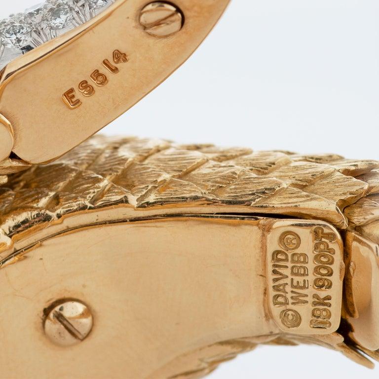 David Webb Diamond, Emerald and Ruby Snake Charmer Bracelet in 18K Yellow Gold For Sale 1