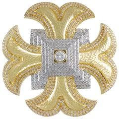 David Webb Maltese Cross Diamond Brooch