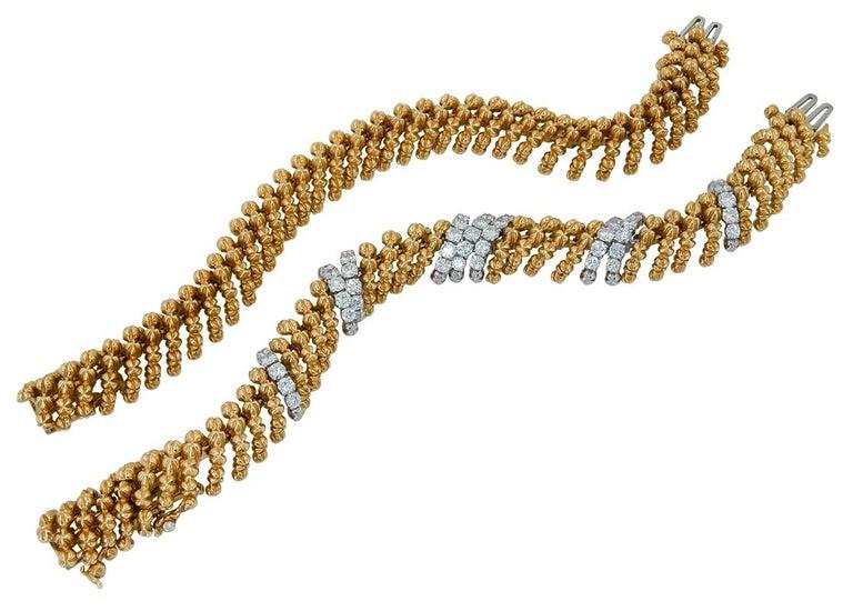 Round Cut David Webb Diamond Necklace/Bracelets For Sale