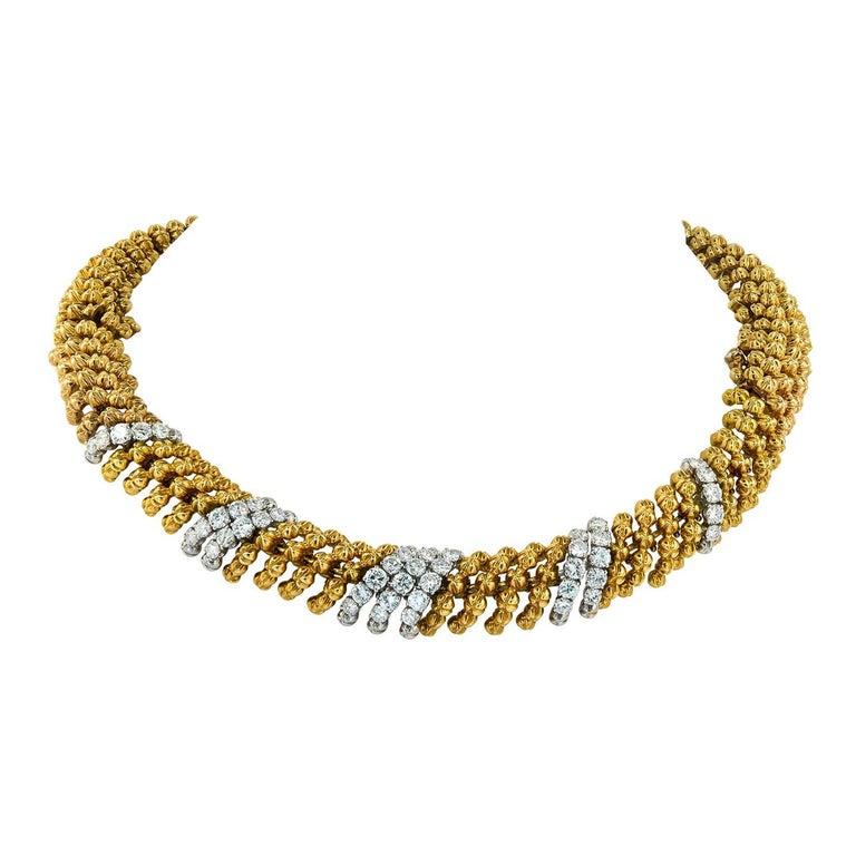 David Webb Diamond Necklace/Bracelets For Sale