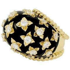 David Webb Diamond Star Dome Ring