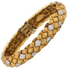 David Webb Diamonds and 18 Karat Gold Bracelet