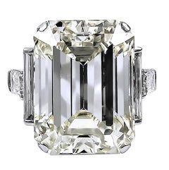 David Webb Emerald-Cut Diamond Engagement Ring, 52.55 Carat