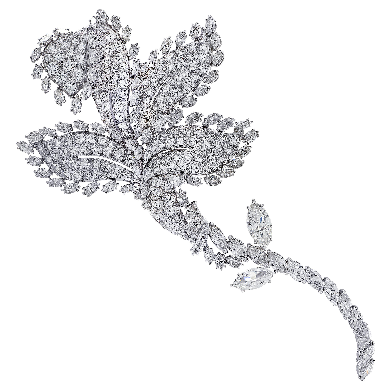 David Webb Flower Diamond Brooch Pin