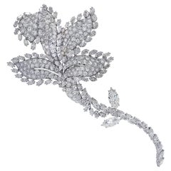 David Webb Flower Diamond Brooch Pin