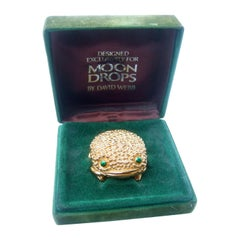 David Webb for Revlon Costume Frog Wax Perfume in Original Presentation Box 1970