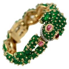 David Webb Frog Bracelet